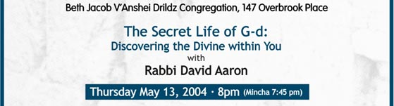 The Secret Life of G-d: Discovering the Divine within You.