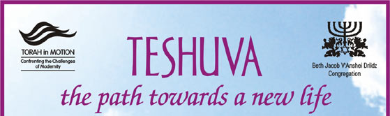 TESHUVA the path towards a new life
